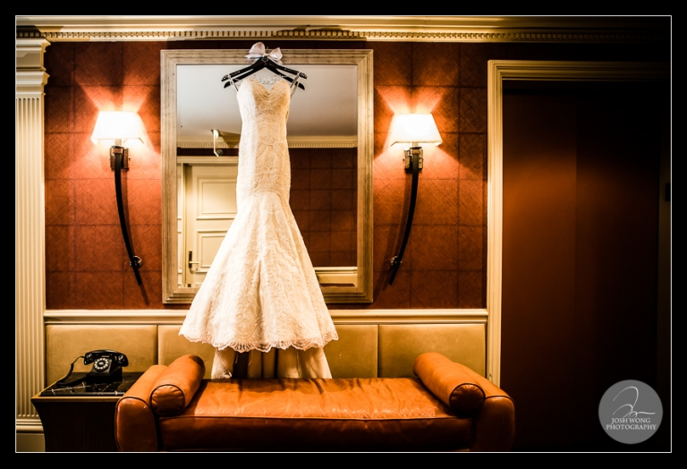 The wedding dress. JW Marriott Essex House Wedding.  Wedding Pictures and photos provided by Josh Wong Photography, New York City