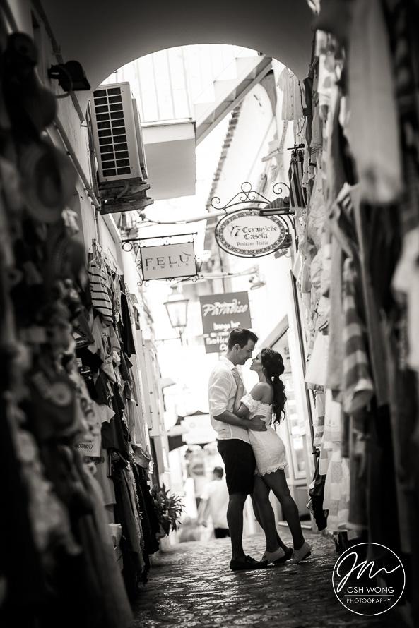 Positano Italy destination engagement session and photoshoot.