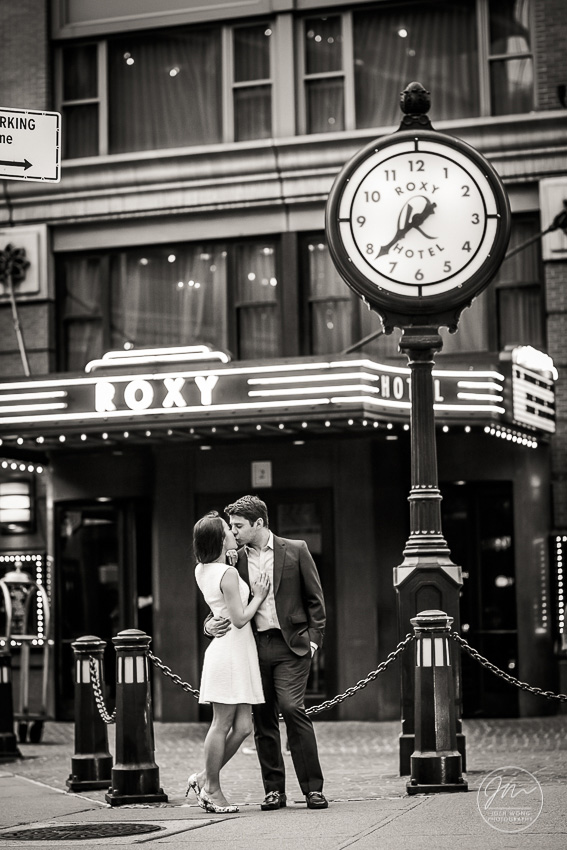 The Roxy Hotel Engagement Pictures. Engagement photos by NYC Wedding photographer Josh Wong Photography