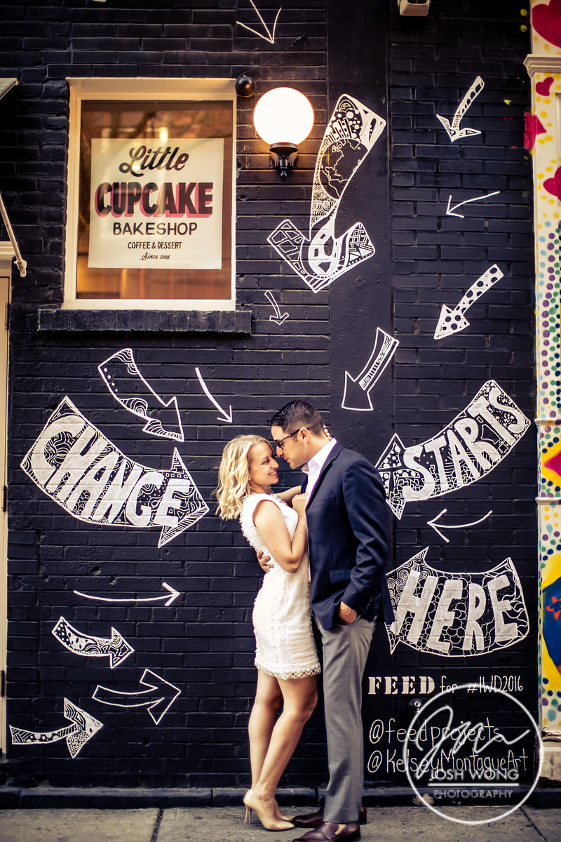 The lower east side has amazing street art for edgier and grungy engagement pictures.