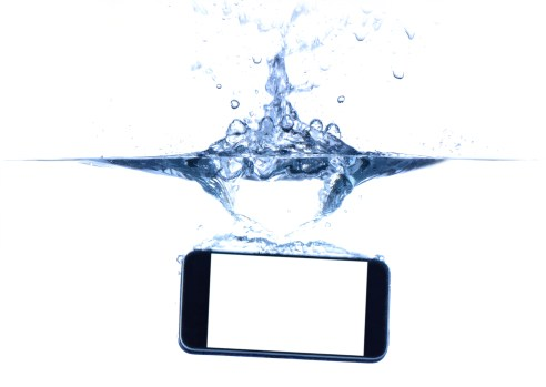Submerged phone