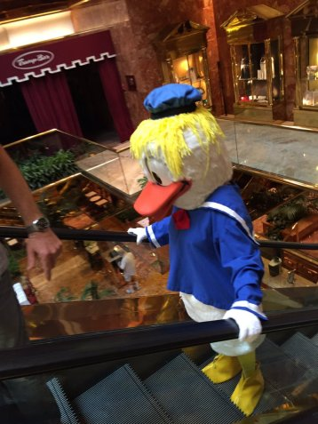 Donald duck escalotor