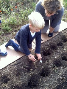 hands on planting