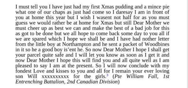 Xmas letter william fall