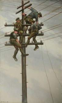 Nerves of the Army, C.R.W Nevinson IWM (Imperial War Museums)