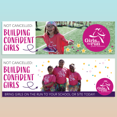 Email banner for girls on the run