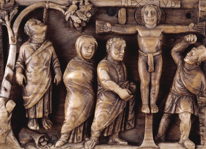 Primera representación narrativa conocida de la crucifixión, c. 430. (Imagen: British Museum)
