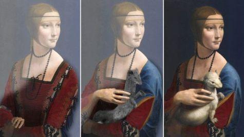 La dama del armiño. Montaje: BBC.