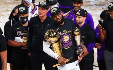 History made ]The Los Angeles Lakers defeats Miami Heats to claim their 17th NBA Title