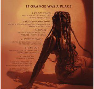 Tems - If Orange Was a Place (zip), JotNaija