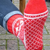 Jo Torr Socks Are For Life Not Just For Christmas colourwork socks