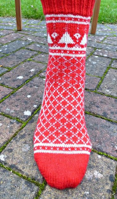 Jo Torr Socks Are For Life Not Just For Christmas colourwork socks