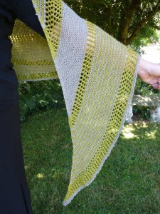 Jo Torr Alfaix short row shawl