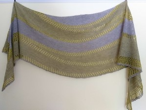 Jo Torr Alfaix short row shawl