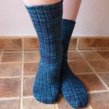Jo Torr Colindale ribbed socks
