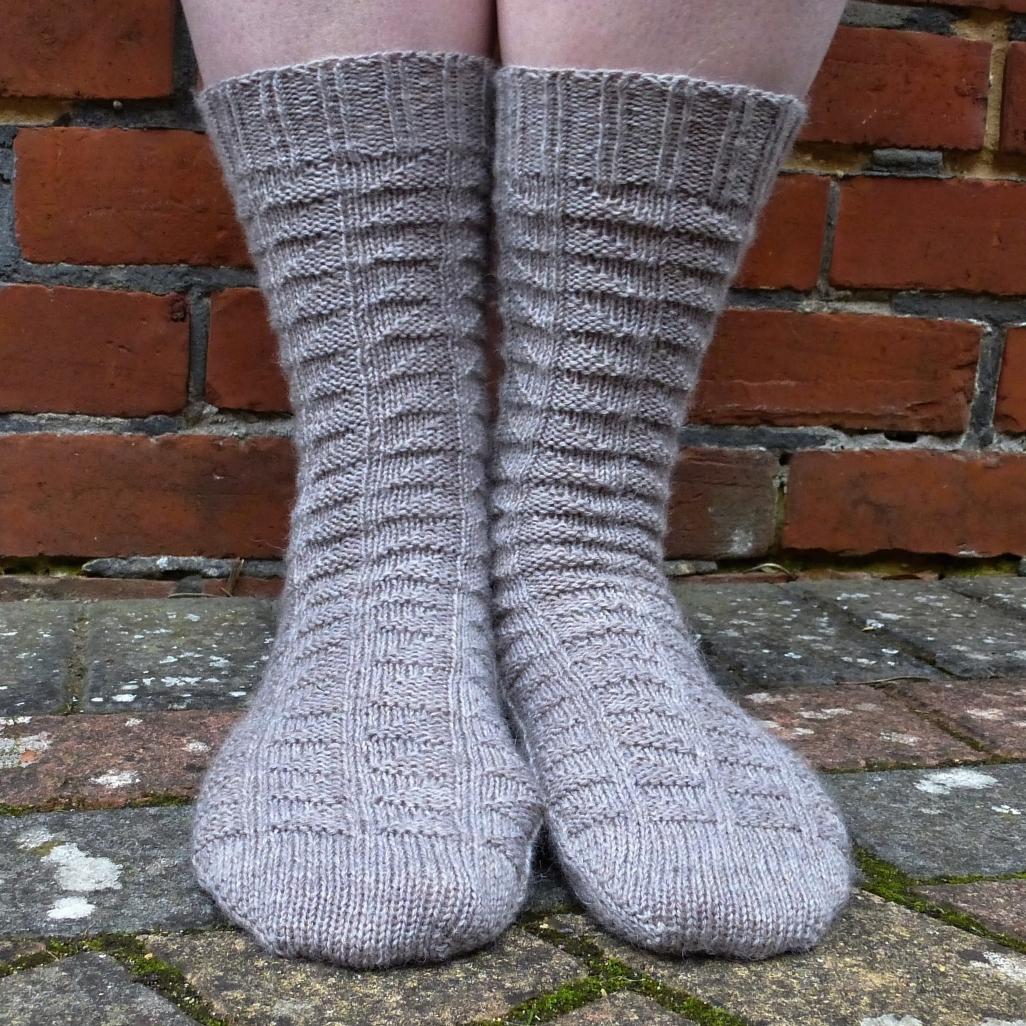 Jo Torr Winnersh textured toe-up sock