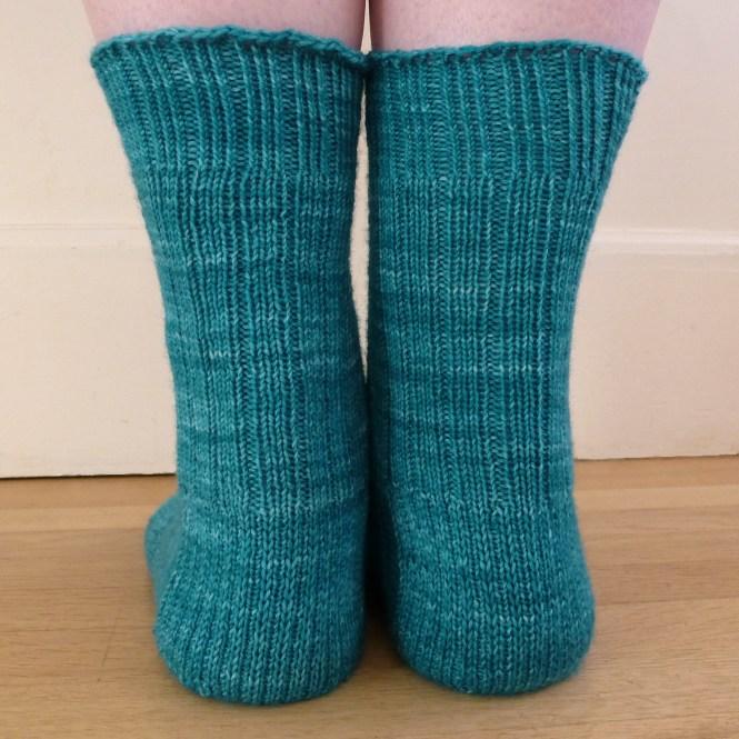 Jo Torr cabled toe-up sock Farringdon
