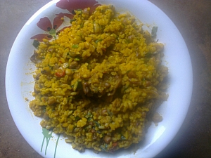How To Prepare Combined Rice And Bean With Palm Oil and Vegetable