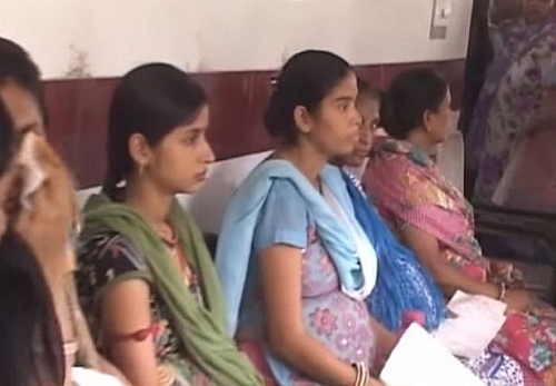 Women in India at Antenatal clinic