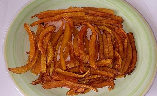 savoury crispy pumpkin fries