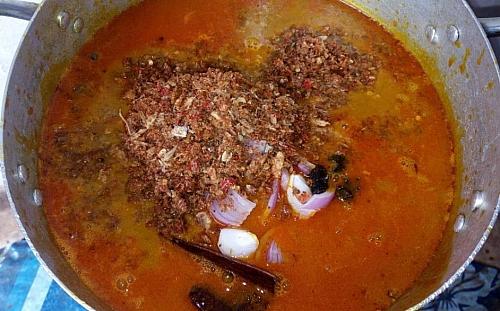 Preparing of abak atama soup