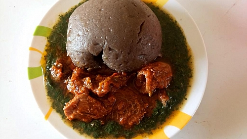 Ewedu soup with Amala, what a delicious combination