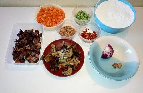 Ingredients for preparing amora food