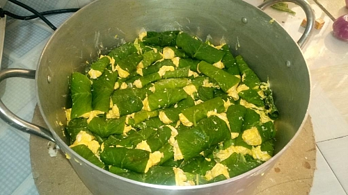 Here is the outcome of the wrapped cocoyam paste