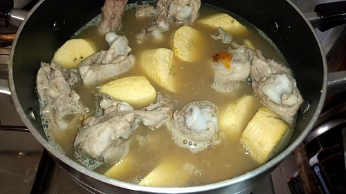 You can also add yam to chicken pepper soup