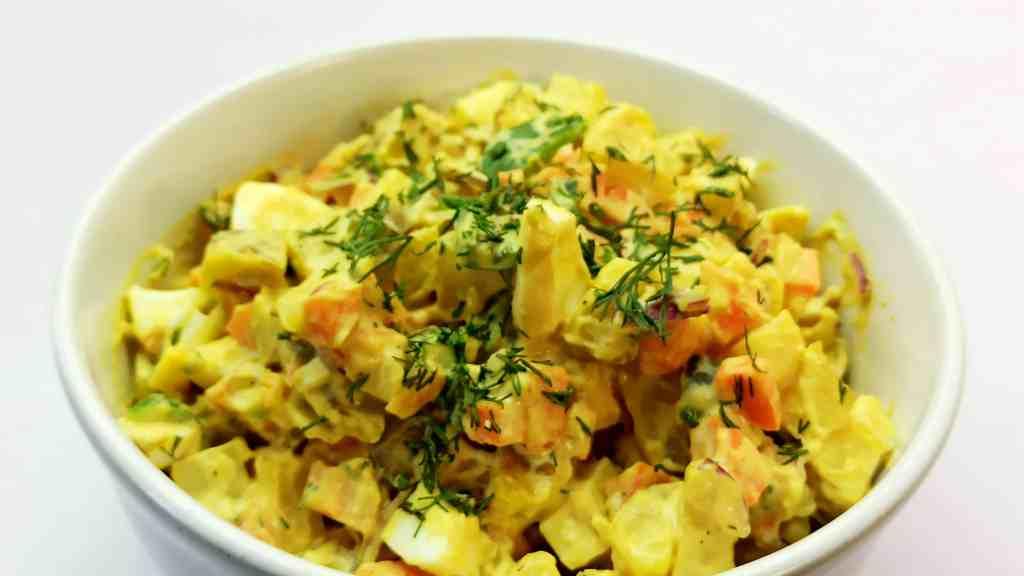 Homemade Potato Salad Recipe with Yellow Mustard