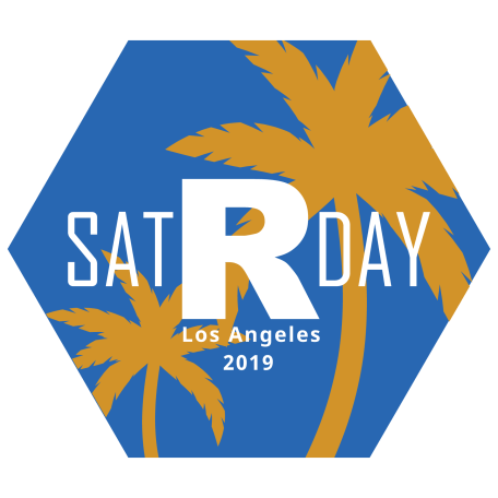 The satRday LA 2019 logo