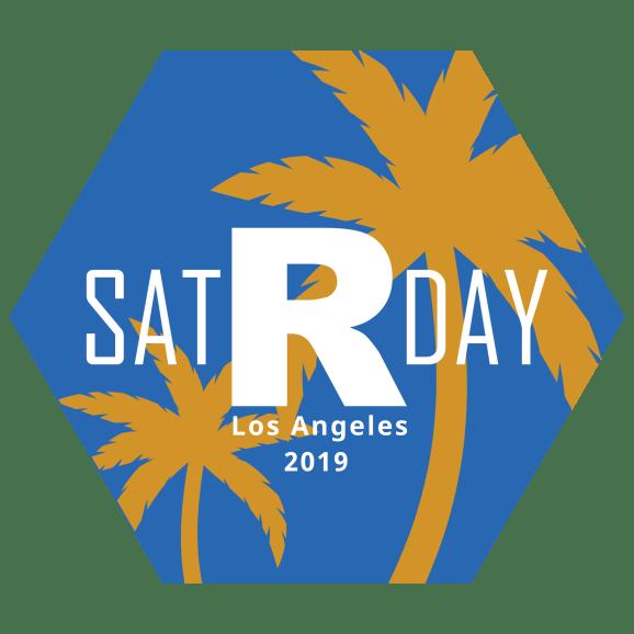 The satRday LA 2019 logo