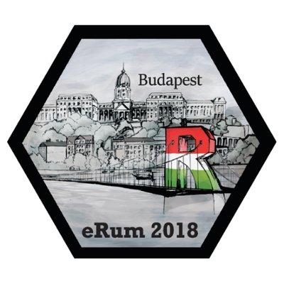 The eRum 2018 hex sticker