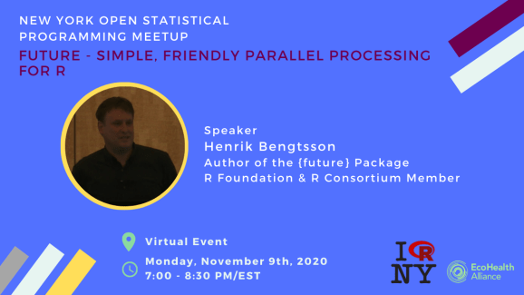 The official poster for this New York Open Statistical Programming Meetup