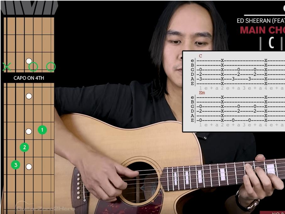 cours de guitare en vidéo Cross Me - Ed Sheeran