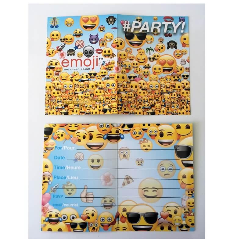 8 cartes emoji pour anniversaire ou fete