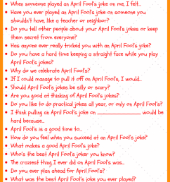 53 Journal Writing Topics about April Fool's Day • JournalBuddies.com [ 2061 x 736 Pixel ]