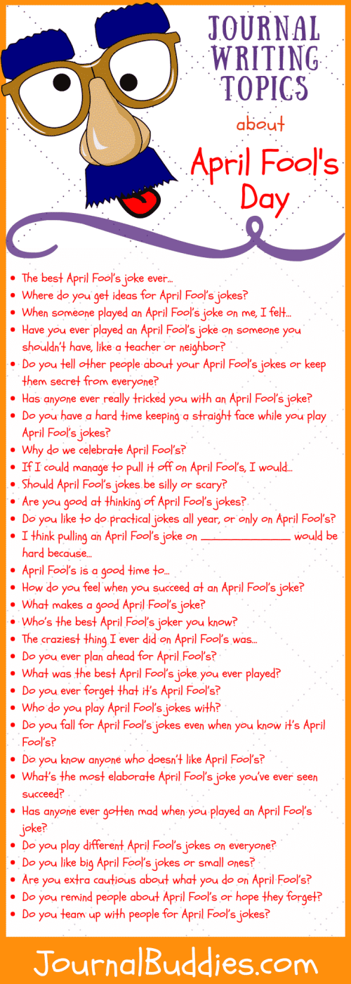 small resolution of 53 Journal Writing Topics about April Fool's Day • JournalBuddies.com