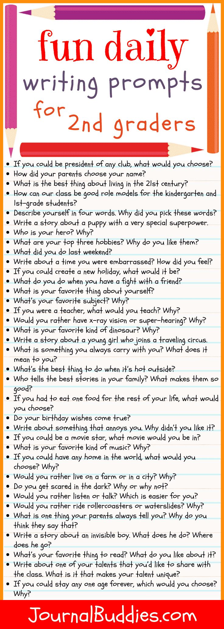hight resolution of 36 Writing Prompts for Second Grade • JournalBuddies.com