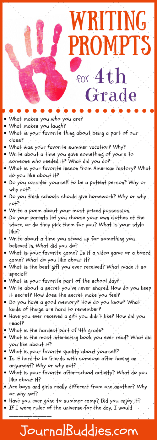 small resolution of 41 Writing Prompts for 4th Grade • JournalBuddies.com