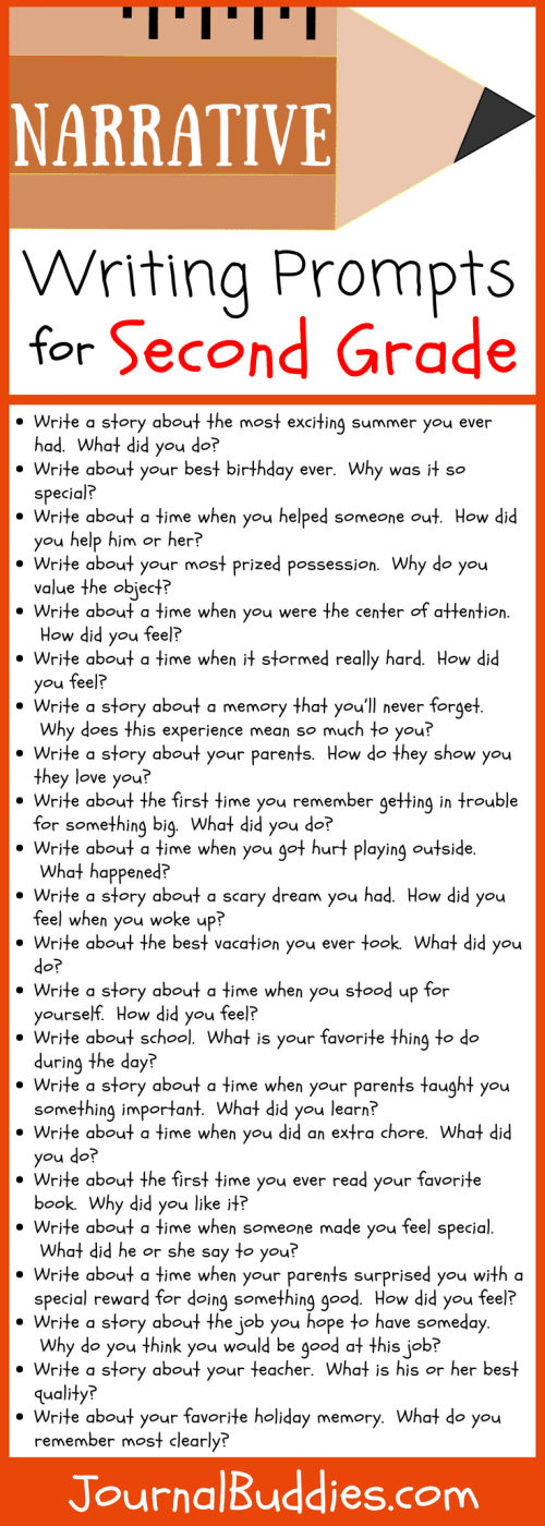 small resolution of 30 Narrative Writing Prompts for Second Grade • JournalBuddies.com