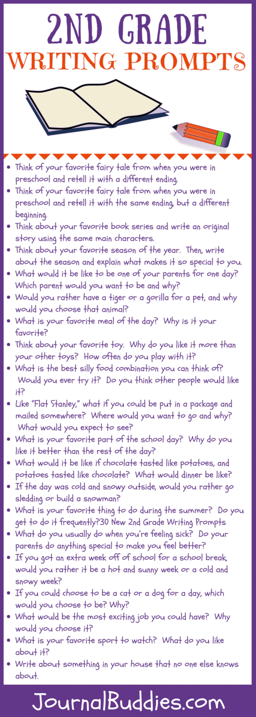 small resolution of 30 New 2nd Grade Writing Prompts • JournalBuddies.com