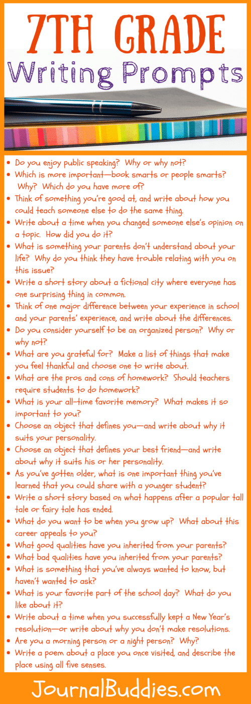small resolution of 7th Grade Writing Prompts: 32 New Ideas • JournalBuddies.com