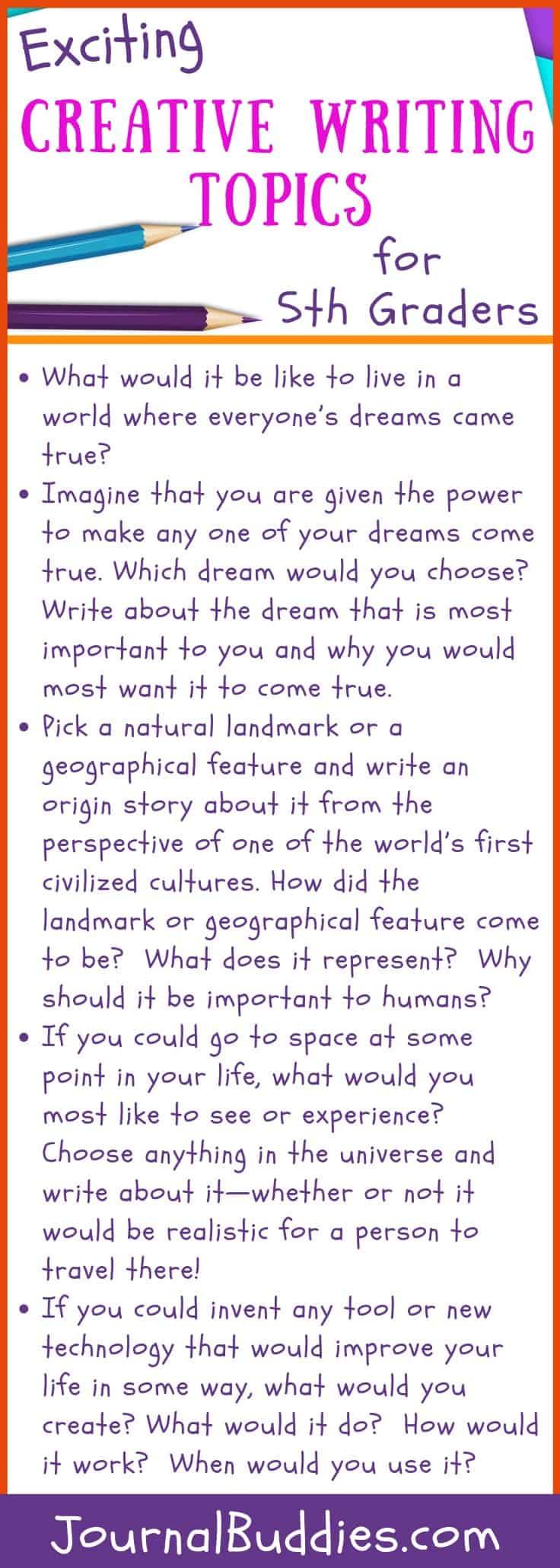 medium resolution of 34 Exciting Creative Writing Topics for Grade 5 • JournalBuddies.com