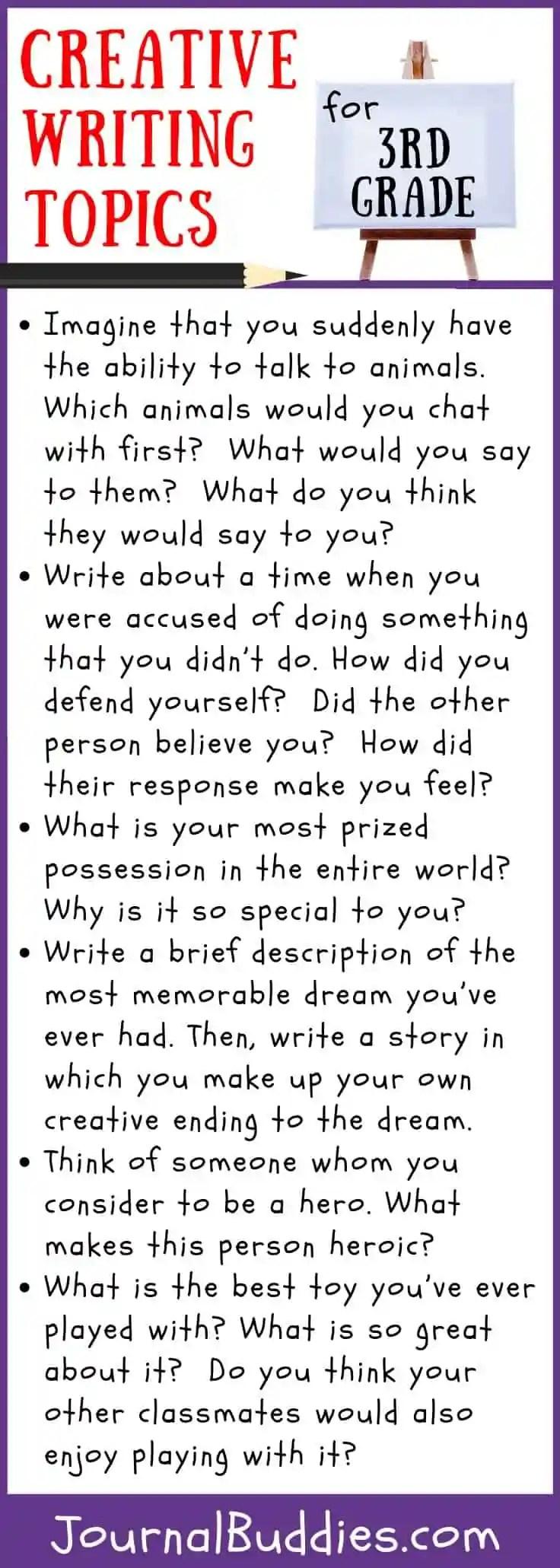 medium resolution of Creative Writing Topics for Grade 3 • JournalBuddies.com