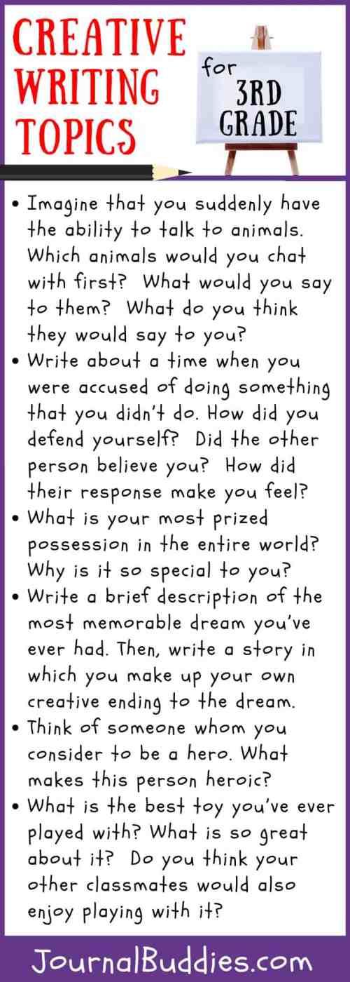small resolution of Creative Writing Topics for Grade 3 • JournalBuddies.com