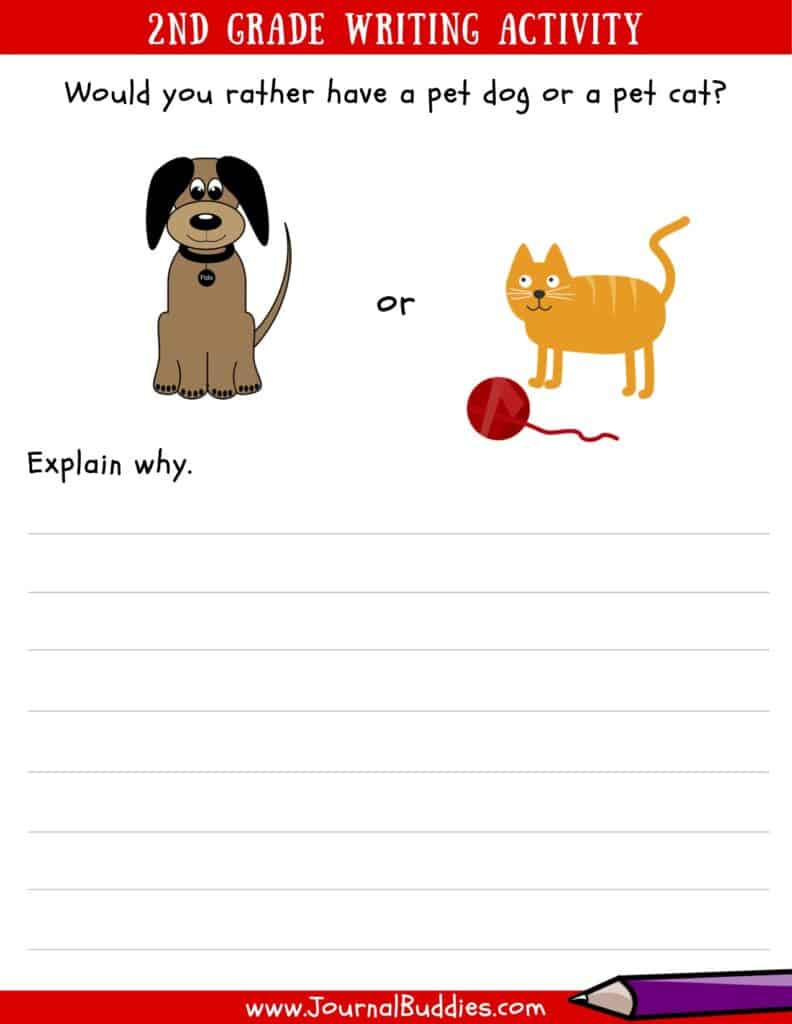 medium resolution of Writing Worksheets for 2nd Grade • JournalBuddies.com