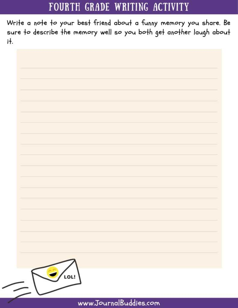hight resolution of Writing Worksheets for 4th Grade • JournalBuddies.com