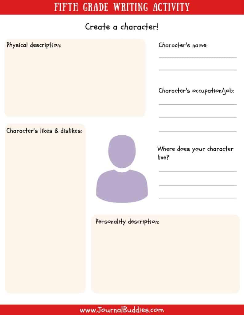 medium resolution of Writing Worksheets for 5th Grade • JournalBuddies.com