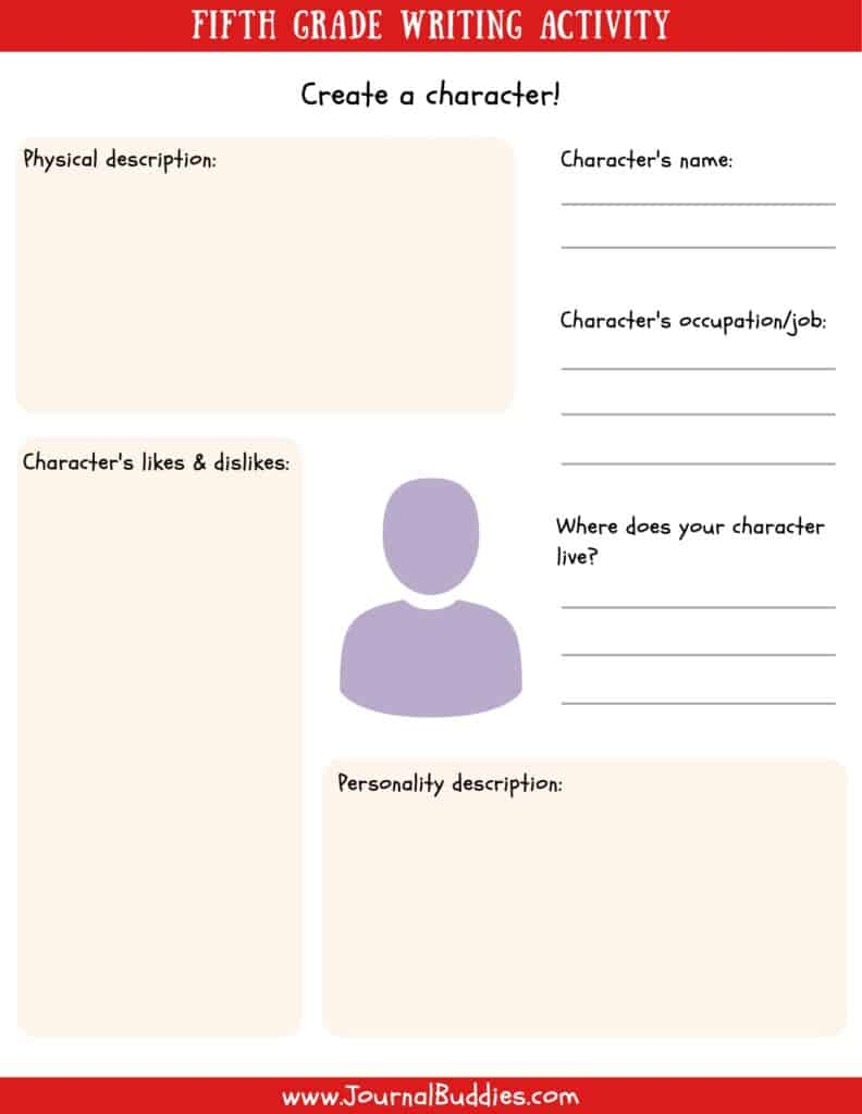 hight resolution of Writing Worksheets for 5th Grade • JournalBuddies.com